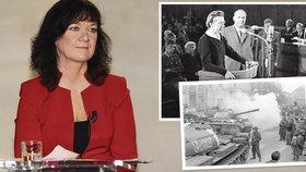 Poslankyně KSČM Marta Semelová hodnotila v TV proces s Miladou Horákovou či okupaci sovětskými tanky.