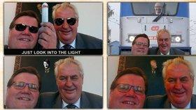 Na selfie Miloše Zemana a Zdeňka Škromacha samozřejmě hned začaly vznikat parodie.