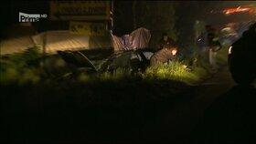Místo tragédie, kde zfetovan řidič srazil ve vysoké rychlosti policistku