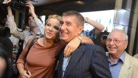 Eurovolby 2014: Velká radost Andreje a Moniky Babišových