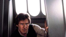 Harrison Ford v původní trilogii Hvězdných válek.