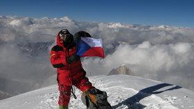 Radek Jaroš na vrcholu