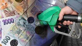 Ceny benzinu a nafty v Česku klesají.