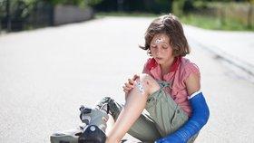 Každé páté dítě musí kvůli úrazu za lékařem. Nejrizikovější je skákání na trampolíně.