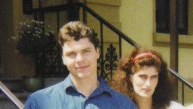 Štefan Janda se svou manželkou Evou v 90. letech