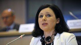 Věra Jourová při slyšení v europarlamentu