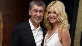 Andrej Babiš s partnerkou Monikou Babišovou na oslavě Babišových šedesátin