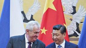 Miloš Zeman se na závěr návštěvy Číny setkal v Pekingu se svým čínským protějškem Si Ťin-pchingem