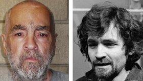 Legendární masový vrah Charles Manson (vpravo na fotce z roku 1970)