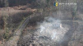 Vrbětice - z tohoto místa se ozývaly stovky výbuchů. Z druhého skladu nezbylo nic.