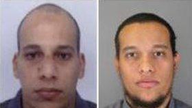 Policie vydala snímky obou bratrů, zleva: Chérif a Said Kouachiové.