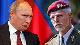 Rusko není důvěryhodný partner, říká kvůli agresím Putinovy země generál Petr Pavel