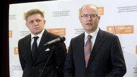 Sjezd ČSSD: Premiéři Sobotka a Fico na společné tiskové konferenci