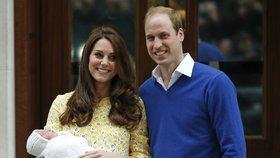 Kate a William s novorozenou dcerkou Charlotte v roce 2015