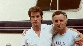 John Travolta na počátku své slávy, v době natáčení superhitu Horečka sobotní noci.
