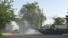 Tanky poblíž vesnice Matveev Kurgan