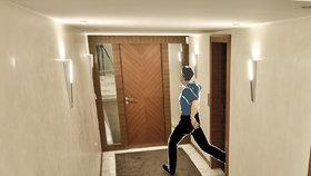 Krejčíř byl jedním z policistů požádán, aby mu ukázal, kde je toaleta. Domníval se, že jde o připravený signál, aby odešel pro zmiňované dokumenty. Odvedl policistu k záchodu v chodbě mezi vilou a zahradním domem. Poté za sebou zamkl dveře spojující domy.
