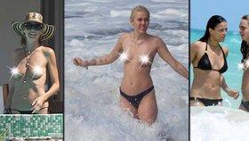 Takhle to vypadá, když celebrity na dovolené odhodí podprsenku!