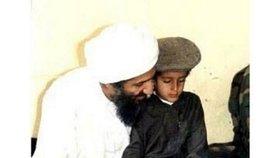 Usáma se svým synem Hamzou