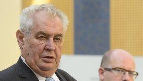 Prezident Miloš Zeman při své návštěvě na vládě