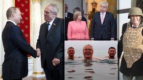 Miloš Zeman na cestách. S Vladimirem Putinem, první dámou i svými věrnými Mynářem a Ovčáčkem