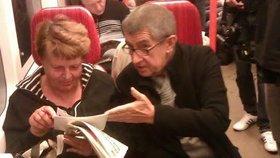 Ministr financí Andrej Babiš (ANO) při přesunu metrem