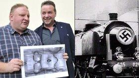 Místo nálezu legendárního vlaku se hledači Andreas Richter a Piotr Koper rozešli ve zlém. Polák však chce během zimy pátrání obnovit (3. 8. 2018).