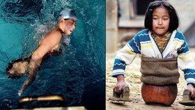 Qian Hongyan se stala úspěšnnou plavkyní i přes své postižení.