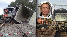 Dvě srážky vlaků s kamiony, dvě těžká zranění strojvedoucích. Vlevo Šluknov, vpravo Studénka