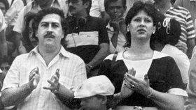 Escobar s manželkou a synem.