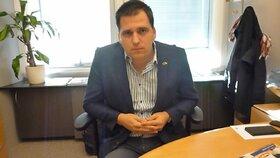 Europoslanec Tomáš Zdechovský (KDU-ČSL) při rozhovoru v Bruselu