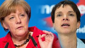 Angela Merkel a její kritička Frauke Petry