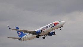 Letadlo společnosti Travel Service
