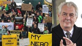 Prezident Miloš Zeman podpořil prolomení limitů, ekologové jsou proti.