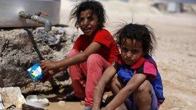 Děti v uprchlickém táboře Za'tarí v Jordánsku