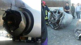 Boeing 747 íránské společnosti Mahan jen dvě minuty po startu z letiště v Teheránu ztratil třetí motor a letadlo muselo okamžitě nouzově přistát.