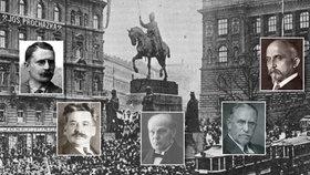 Muži 28. října: Kdo před 97 lety po konci první sv. války založil samostatný český stát?