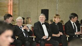 František Ringo Čech na předávání státních vyznamenání.