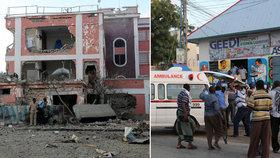 Islamisté zaútočili na hotel v somálském Mogadišu. Zemřelo nejméně 12 lidí.