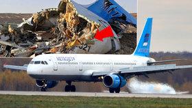 Proč ruské letadlo spadlo? Podle expertů mohla na palubě vybuchnout bomba.