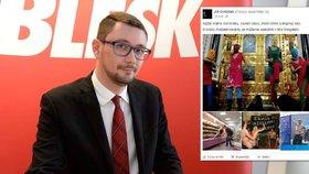 Hradní mluvčí Jiří Ovčáček a jeho příspěvek na sociální síti