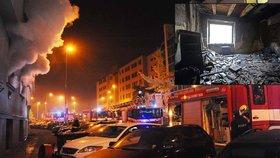 Žena ve Vršovicích podpálila dům, ze kterého se měla ráno vystěhovat.
