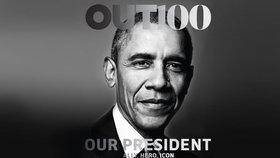 Prezident Obama na titulní straně časopisu pro homosexuály.