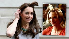 Vévodkyně Kate se kvůli větru přiblížila známé scéně z filmu Něco na té Mary je.