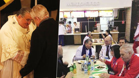 Dominik Duka s Milošem Zemanem v Lánech, ale i na snímku před ruským McDonaldem