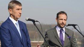 Primátor Ostravy Tomáš Macura (ANO) se stranickým šéfem Andrejem Babišem