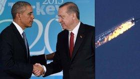 """Erdogan prý u Obamy dostal """"povolení"""" sestřelit ruské letadlo."""
