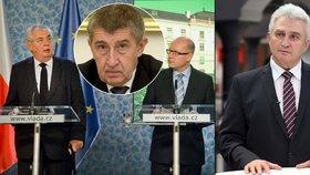 Za sporem Zeman vs. Sobotka může být i Andrej Babiš, řekl v ČT24 Štěch (vpravo).