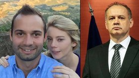 Syn Andreje Kisky se oženil, ale otce na svatbu v Praze nepozval.