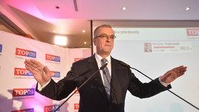 Miroslav Kalousek na volebním sněmu TOP 09